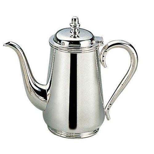 H 洋白 東型 コーヒーポット 10人用 二種メッキ 高さ215(mm)/業務用/新品/送料無料 /テンポス