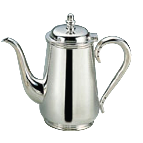 H 洋白 東型 コーヒーポット 5人用 二種メッキ 高さ182(mm)/業務用/新品/小物送料対象商品