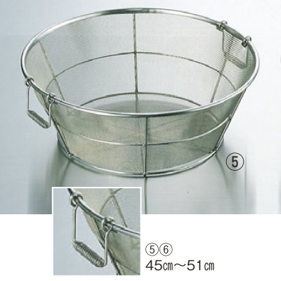 ザル BK 18-8 手付 揚ザル 細目(11メッシュ)65cm 高さ230 外径:650、内径:625/業務用/新品/小物送料対象商品
