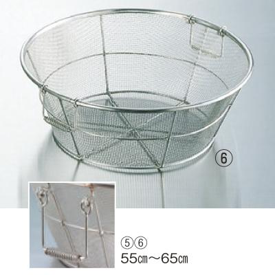 ザル BK 18-8 手付 揚ザル 荒目(5メッシュ)65cm 高さ230 外径:650、内径:625/業務用/新品/小物送料対象商品