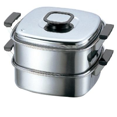 蒸器 角蒸器 2段 27cm PE 8入/業務用/新品/送料無料 /テンポス