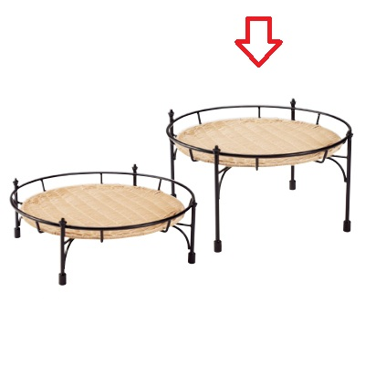 バスケット スタンド プリート 積み重ね丸スタンド ナチュラルセッ トDS514-25-NA 高 Pulito 高さ248 外径:440、内径:400/業務用/新品/送料無料 /テンポス