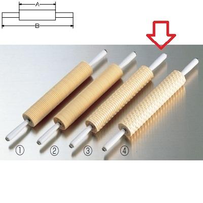 めん棒 模様付メン棒 レ ン ガ 長さ:A265×B450、直径:43/業務用/新品 /テンポス