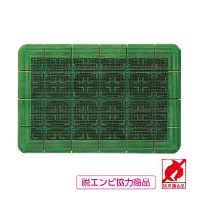 玄関マット #18 クロスハードマット 緑 900×1800 【 業務用 】【送料無料】