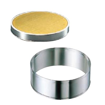 EBM ゴム付ステン枠 裏漉 セット 真鍮張 中目 30cm (替アミ式)/業務用/新品 /テンポス