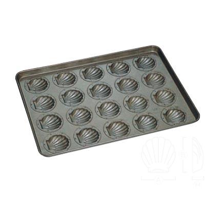 天板 (20ヶ取) ほたて貝型 シリコン加工 【 業務用 】【送料無料】 /テンポス
