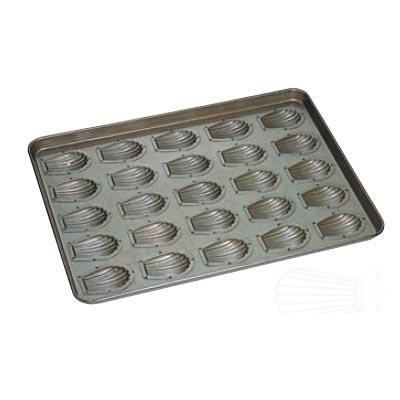 天板 (25ヶ取) 貝型マドレーヌ型 シリコン加工/業務用/新品 /テンポス
