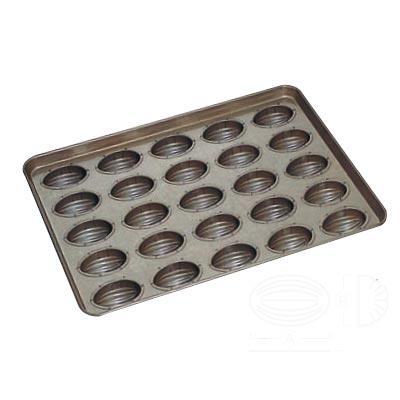 天板 (25ヶ取) アーモンドショコラ型 シリコン加工 【 業務用 】【送料無料】 /テンポス