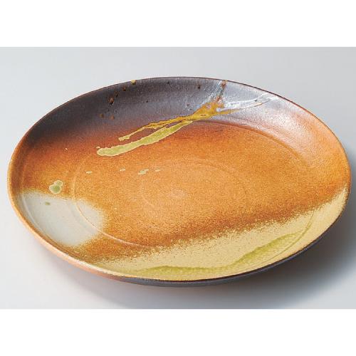 盛皿 古信楽12.0皿(信楽焼) 高さ45mm×口径:370/業務用/新品/小物送料対象商品