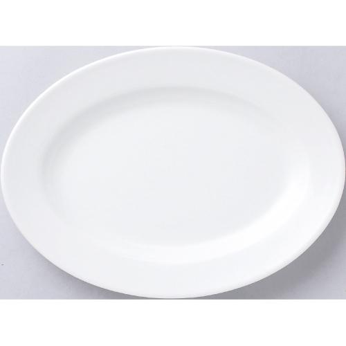 白中華 リム玉14吋プラター 5枚入/業務用/新品 /テンポス