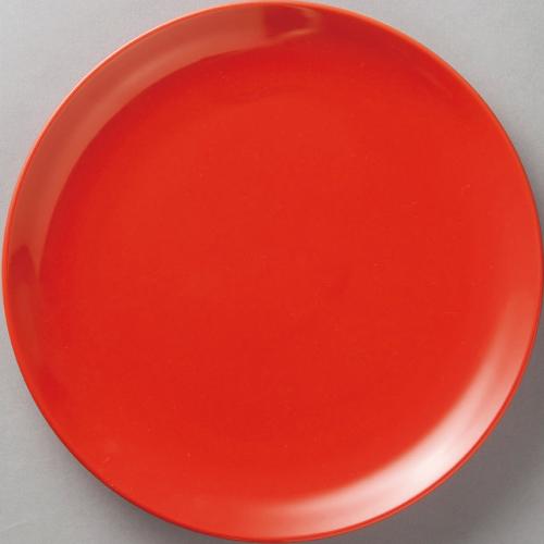 紅中華 メタ玉26cm皿赤10枚入 /業務用/新品 /テンポス