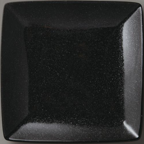 角皿 【水明 正角25cm黒御影】 6-96-19 幅250mm×奥行250mm×高さ30mm 10枚入【プロ用】【プロ用】 /テンポス