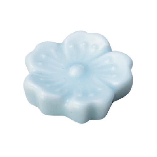 花衣 青白 箸置き 高さ10mm×直径:37mm10入/業務用/新品/小物送料対象商品