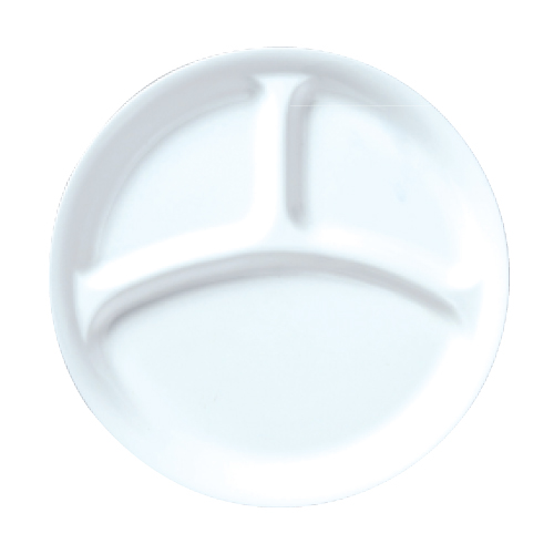 ダイヤセラム(強化) 仕切皿 26cm プレート Dia Ceram White I 10枚入/業務用/新品 /テンポス