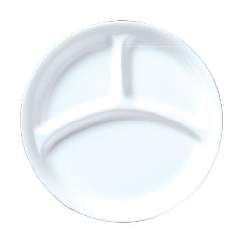 ダイヤセラム(強化) 仕切皿 21cm プレート Dia Ceram White I 10枚入/業務用/新品 /テンポス