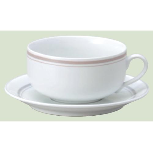 【ダイヤセラム(強化)】【パーチメント スープ碗皿】【カップ&ソーサー】【Dia Ceram Perchment】 【10個入】【業務用】【グループB】【プロ用】
