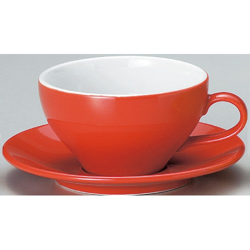 【ユーラシア スープ碗皿 赤】【カップ&ソーサー】【Eurasia】 【10個入】【業務用】【プロ用】 /テンポス