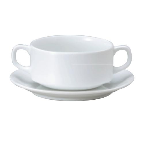 【ダイヤセラム(強化)】【スタック ブイヨン碗皿】【カップ&ソーサー】【Dia Ceram White I】 【10個入】【業務用】【グループB】【プロ用】