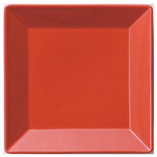 【正角 皿 18cm 赤】【プレート】 【Basic】 【10枚入】【洋食器】【業務用】 /テンポス