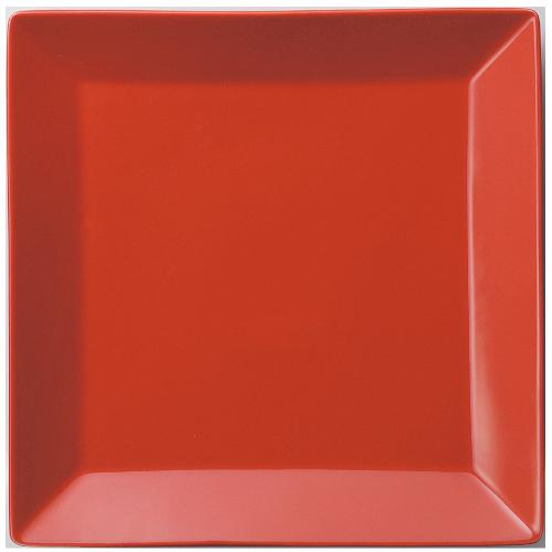 【正角 皿 23cm 赤】【プレート】 【Basic】 【10枚入】【洋食器】【業務用】 /テンポス
