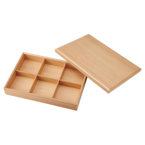 六つ仕切り 箱 木製 松花堂/プロ用:厨房器具と店舗用品のTENPOS