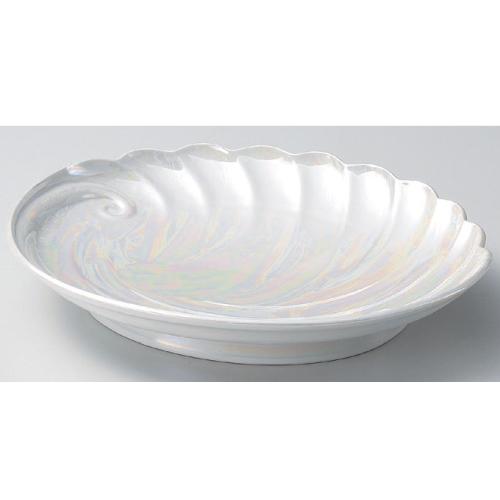 大皿 ラスターあわび盛込皿(有田焼) 高さ67mm×(手付・はみ出し部分含む)サイズ:410、口径:330/業務用/新品 /テンポス