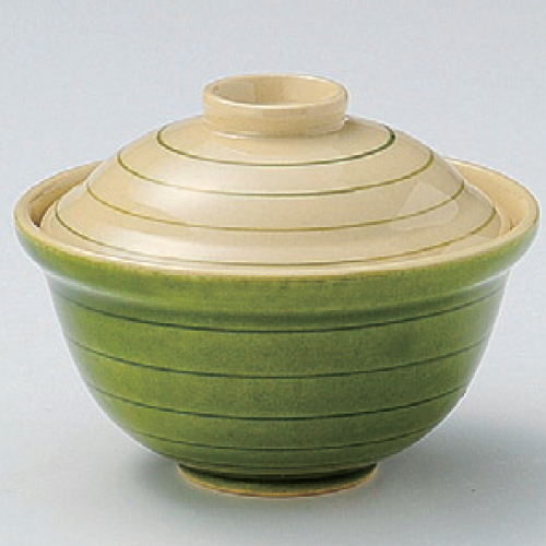 碗 グリーン渦福碗 身の直径 最大径 未使用品 :108 蓋付の高さ:85 安売り 新品 業務用 テンポス