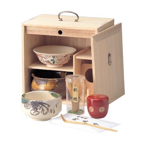 茶碗 桐色紙箱揃茶道具 幅250mm×奥行185mm×高さ250mm/業務用/新品/小物送料対象商品