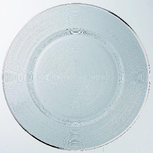 ガラスプレート サークル チャージャー32 プラチナ アルダ 6入
