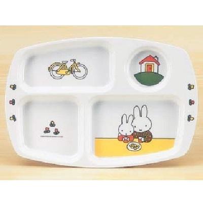メラミン食器 子供食器 ミッフィー 角ランチ皿 CM-20C/業務用/新品/小物送料対象商品