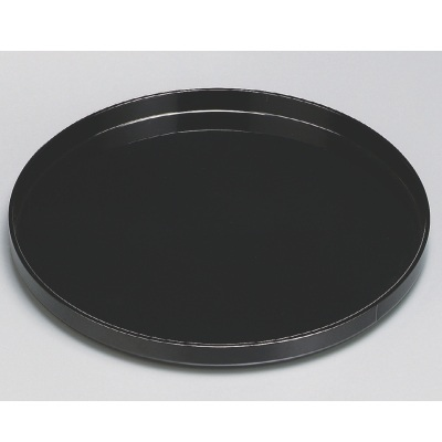 丸盆 永平寺丸盆黒塗尺2 高さ33 直径:378/業務用/新品/小物送料対象商品