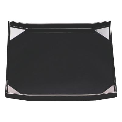 お盆 隅折角盆黒漆塗9寸 幅270 奥行270 高さ23/業務用/新品/小物送料対象商品
