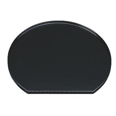 お盆 木製半月盆黒塗尺3 幅395 奥行355 高さ18/業務用/新品/小物送料対象商品