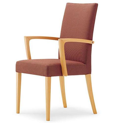 CRES(クレス) 木製イスメルカ AW 張地ランクA 肘付き(業務用椅子/新品)(送料無料)