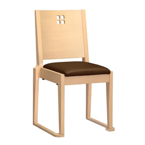 【室津 N 椅子 Aランク 】 木製イス 幅440×奥行460×高さ800(mm)【業務用】【新品】【送料無料】