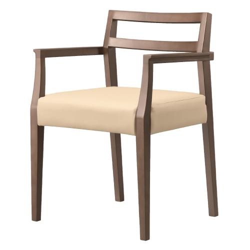 【伊豆 1 D アーム椅子 Aランク 】 木製イス 幅520×奥行480×高さ730(mm)【業務用】【新品】【送料無料】