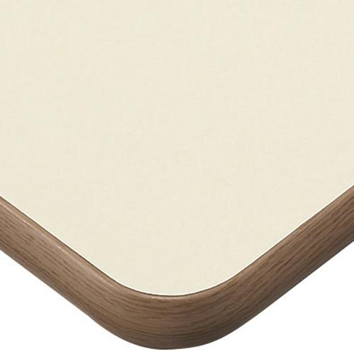 プロシード(丸二金属) テーブル天板 メラミン化粧板(ソフトエッジ) ST948-IB-N 幅600×奥行750×高さ30×角30R(mm) 業務用 送料無料 テンポス
