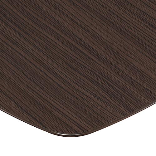 プロシード(丸二金属) テーブル天板 メラミン化粧板MDF(木口塗装) ST956-BZ-U 幅750×奥行750×高さ28(mm) 業務用 送料無料 テンポス