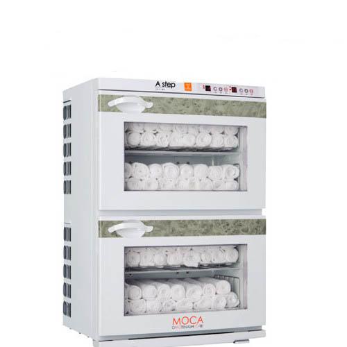 タオルウォーマー34L 120~160本収納 2段タイプ 温蔵&冷蔵切替型 アステップ MOCA CHC-34F 【業務用/新品】【送料無料】【プロ用】