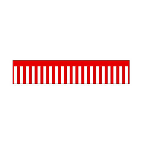 ロール幕「 紅白幕」のぼり屋工房 3820/業務用/新品 /テンポス