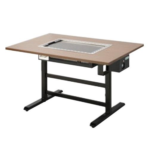 【業務用】【新品】 タニコー 電気式 お好み焼き用テーブル洋卓組み込みタイプ黒皮鉄板 TOTE-4KY 幅1200×奥行800×高さ700 (50/60Hz) 4人掛け用 【送料無料】 /テンポス