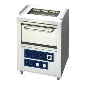 【業務用】電気低圧式グリラー オーブン付 【OG-10】【ニチワ電気】幅770×奥行650×高さ1020【プロ用】