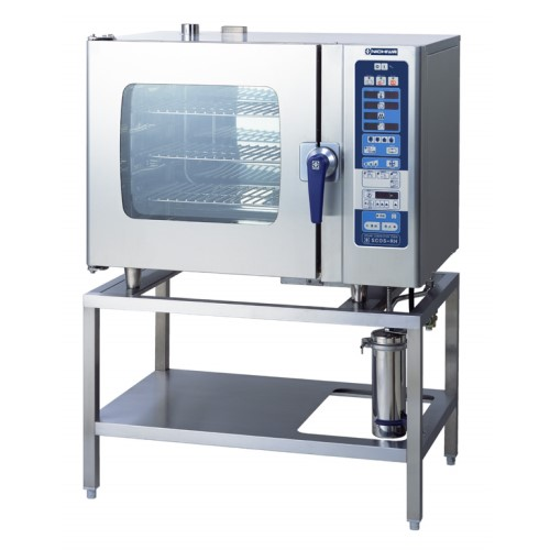 【プロ用/新品】【スチコン】【ニチワ電機】電気スチームコンベクションオーブン 架台付 SCOS-610RHC-L(R) 幅1035×奥行655×高さ1395mm (50/60Hz)【送料無料】