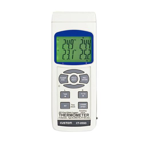 温度記録計 4チャンネルデータロガー温度計 本体のみ CT-05SD カスタム/業務用/新品 /テンポス