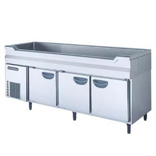 【冷蔵庫】【フクシマガリレイ】舟形シンク付冷蔵コールドテーブル【TNC-60RM3-SW】幅1800×奥行750×高さ800【送料無料】【業務用】 /テンポス