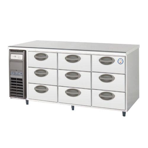 フクシマガリレイ ドロワー冷蔵コールドテーブル(3段) YDC-160RM2 幅1650×奥行600×高さ800 【送料無料】【業務用/新品】【プロ用】【厨房機器】 /テンポス