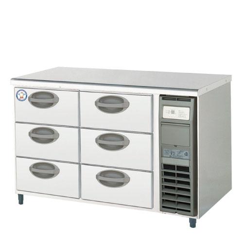 フクシマガリレイ ドロワー冷蔵コールドテーブル(3段) YDW-120RM2-R 幅1200×奥行750×高さ800 【送料無料】【業務用/新品】【プロ用】【厨房機器】 /テンポス