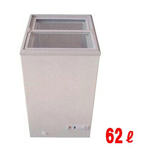 冷凍ショーケース 【スライド式 冷凍庫 新型ノンフロンタイプ MS-062G 62L】 三ツ星貿易 MS-062G 幅475 奥行555 高さ830