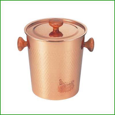 銅製 アイスペール 木柄蓋付【S-5481L】/業務用/新品/小物送料対象商品