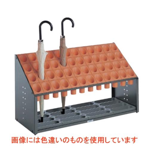 傘立 オブリークアーバンB 48本立 グリーン/業務用/新品/送料無料 /テンポス